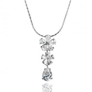 Colier Borealy Diamonds Flowers0