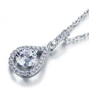 Colier Borealy Argint 925 Diamond Halo Infinity One1