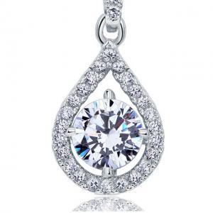 Colier Borealy Argint 925 Diamond Halo Infinity One2