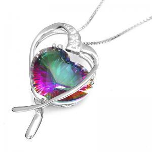 Colier Inima Misterioasa Mistic Topaz 8 carate Argint 9253