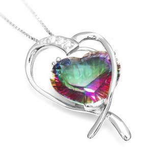 Colier Inima Misterioasa Mistic Topaz 8 carate Argint 9252