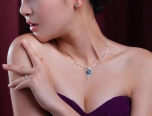 Colier Inima Misterioasa Mistic Topaz 8 carate Argint 9254