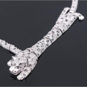 Colier Borealy Simulated Diamonds Leopard2