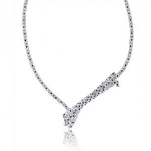 Colier Borealy Simulated Diamonds Leopard1