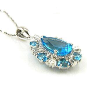 Colier Luxury Blue Topaz 9 carate - pietre pretioase naturale Argint 9252