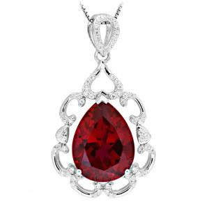 Colier Luxury Unique Pigeon Blood Red Ruby 13 carate0