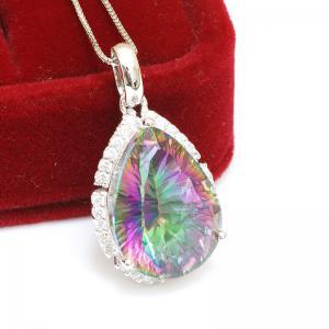 Colier Mistic Fire Topaz Pear 15 carate Argint 9253