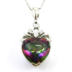 Colier My Mistic Heart Topaz 6,60 carate Argint 9250