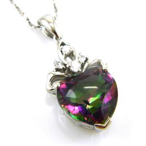Colier My Mistic Heart Topaz 6,60 carate Argint 9251