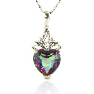 Colier My Mistic Heart Topaz 6,60 carate Argint 9253