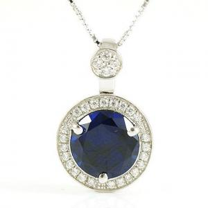 Colier One Ocean Blue Safir - Argint 9250