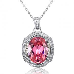 Colier One Passion Pink Simulated Diamonds 925 Sterling Silver0