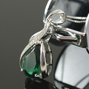 Colier Borealy Argint 925 Smarald 1,5 carate Orhidee Luxury4