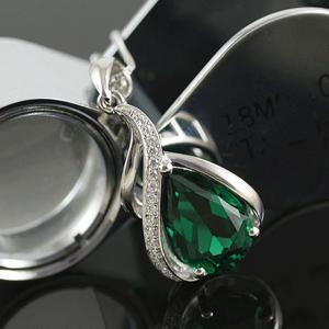 Colier Borealy Argint 925 Smarald 1,5 carate Orhidee Luxury3