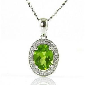 Colier Oval Luxury Peridot 1,70 carate Argint 925 Borealy1