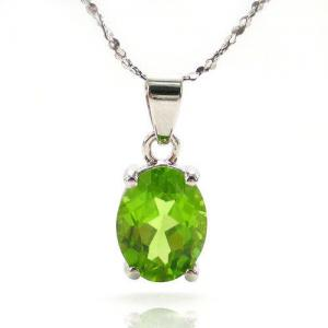 Romantic Peridot Natural Colier0