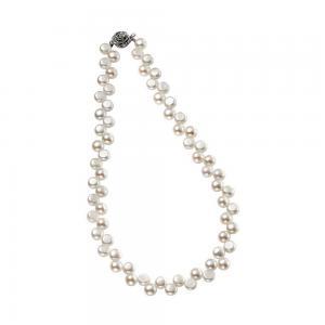 Colier Perle White Naturale de Cultură Button1