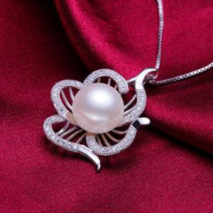 Colier Borealy Argint 925 Perle Flower2