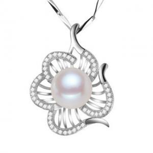 Colier Borealy Argint 925 Perle Flower0