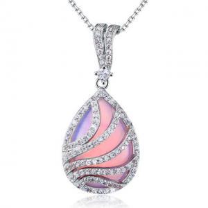Colier Pink Moon Stone Argint 9250