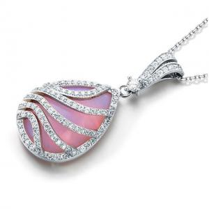 Colier Pink Moon Stone Argint 9251