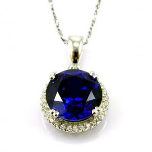 Colier Borealy Argint 925 Safir 5.5 carate Round Luxury4