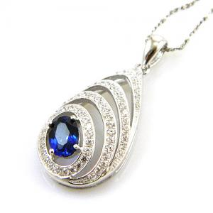 Colier Blue Eva Created Safir - Argint 9252