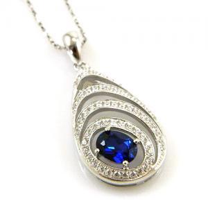 Colier Blue Eva Created Safir - Argint 9251