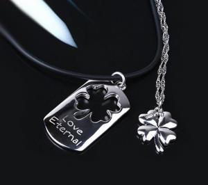 Coliere Love Eternal Clover Charms For Lovers Argint 925 Borealy1