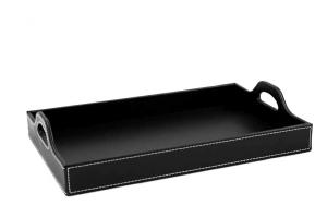 VIP Black Leather Tray1