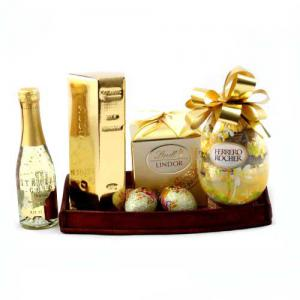 Cadou Paste Pure Gold Gift Tray1