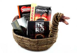 Cos paste Easter Duck Gift Basket