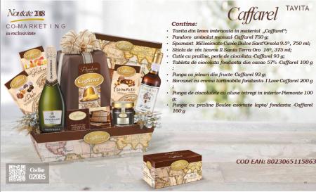 Cos de Craciun Caffarel - 12 piese, made in Italy