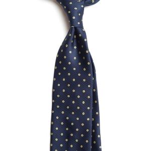 Cravata Handmade Seven-Fold din Matase Naturala cu Model Floral