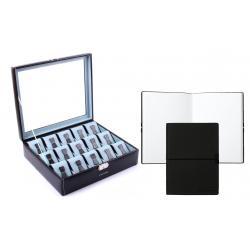 Set Cutie de Ceasuri de Lux Redford 15 Ceasuri by Friedrich si Note Pad Black Hugo Boss - personalizabil
