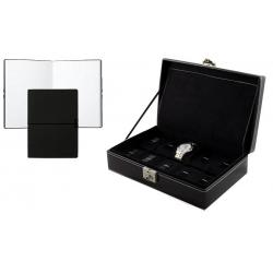 Set Cutie 10 Ceasuri London Black Friedrich - Piele Naturală - si Note Pad Black Hugo Boss