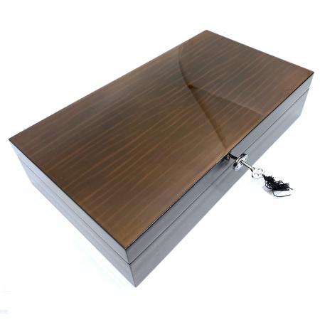 Cutie 12 ceasuri Luxury Brown Wood [1]