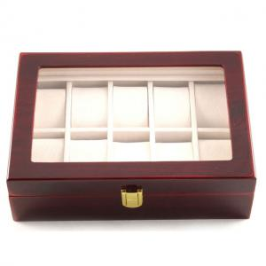 Set cutie 10 ceasuri Red Wood Luxury - personalizabil2