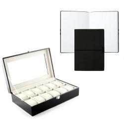 Set cutie 12 ceasuri piele si Note pad Hugo Boss - personalizabil