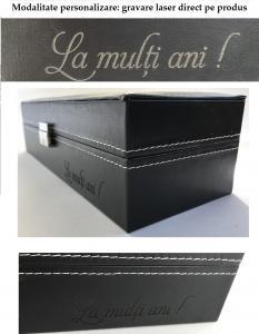Cutie 20 Ceasuri Lux Black Wood + Cadou Portofel West Polo din piele naturala [5]