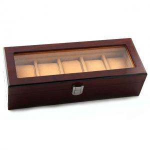 Cutie 5 ceasuri lemn Luxury1