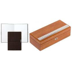 Set Cutie 6 Ceasuri Argint Light Brown Valenti si Note Pad Burgundy Hugo Boss - personalizabil
