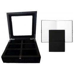 Set Cutie 6 Ceasuri Black Wood si Note Pad Black Hugo Boss - personalizabil0