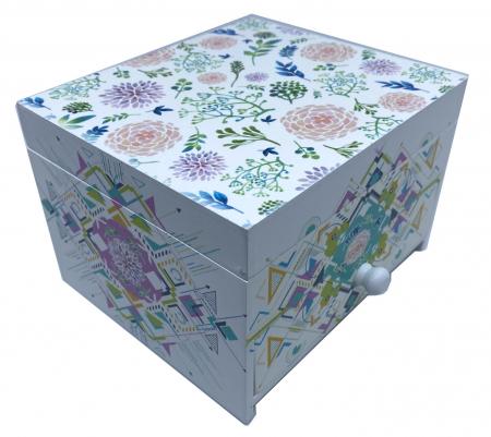 Cutie Bijuterii din Lemn cu 2 Compartimente [1]