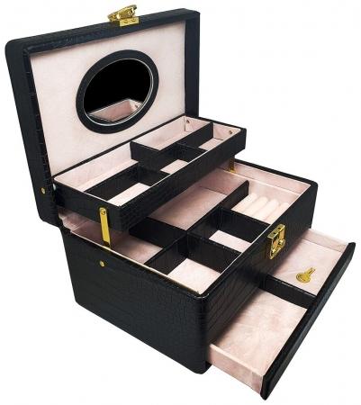 Cutie Bijuterii Croco Black by Borealy