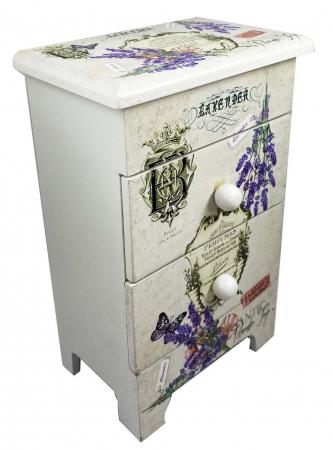 Cutie Bijuterii Lemn Lavender4