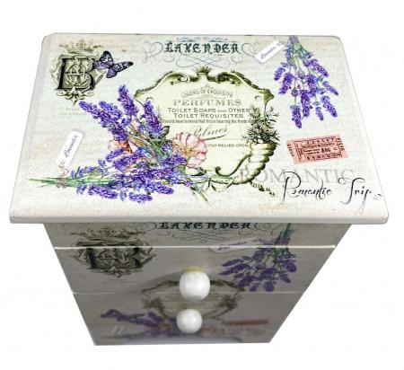 Cutie Bijuterii Lemn Lavender5