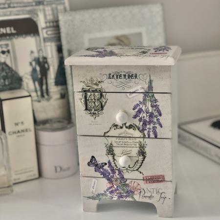 Cutie Bijuterii Lemn Lavender3