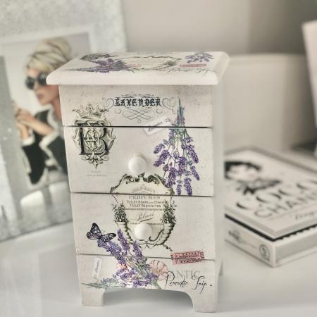 Cutie Bijuterii Lemn Lavender1