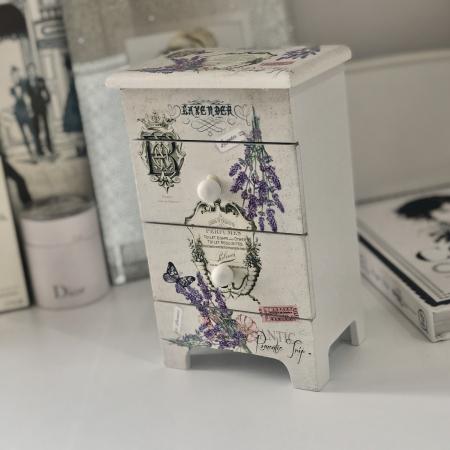 Cutie Bijuterii Lemn Lavender6